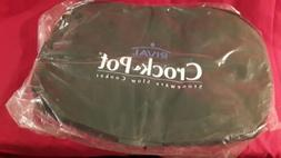 Rival Crock Pot Insulated Carrier Travel Bag Oval Stoneware