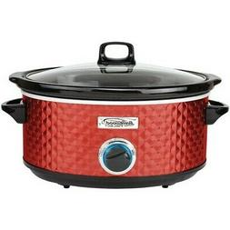 Brentwood SC-157R Diamond Pattern, 7 Quart  Slow Cooker