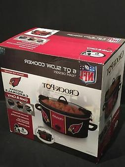 Crock-pot SCCPNFL600-AC Electric Cooking, Black/Cardinal/Whi