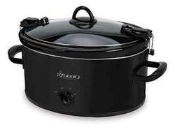 Crock-Pot SCCPVL600-B Cook N Carry Oval Manual Slow Cooker,
