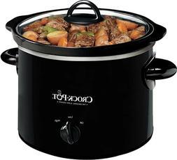 Slow Cooker Black 2 Quart Round Manual Cooking Crock Pot Sto