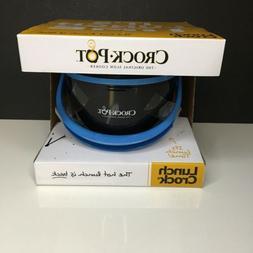 Slow Cooker Black/Blue Lunch Box 20 oz. Dishwasher Safe Trav