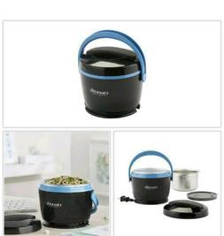 Slow Cooker Black Lunch Box 20 oz. Dishwasher Safe Travel Fo