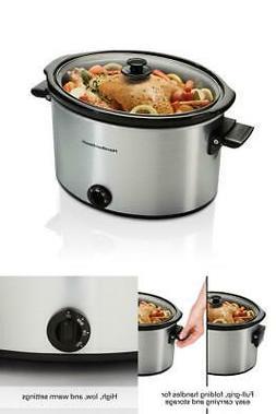 Hamilton Beach Slow Cooker Crock Pot 10 Qt Large Dishwasher
