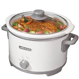 Slow Cooker Crock Pot 4 Quart White Portable Cooking Electri