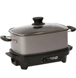 Magic Mill Slow Cooker Crock Pot 6 qt Quart