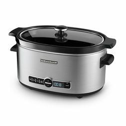 Slow Cooker Crock Pot KitchenAid Digital Oval Home Dining Gl
