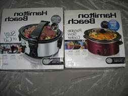 Hamilton Beach Slow Cooker Crock Pot Oval Portable Meal Food