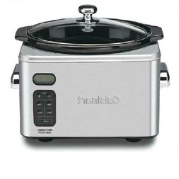 Slow Cooker Programmable Stainless Steel Cuisinart Crock Pot