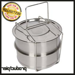 Instant Pot Accessories 6 -8 quart Stackable Stainless Steel