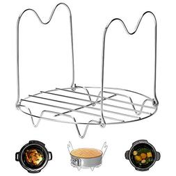 Steamer Rack Trivet with Handles Compatible with Instant Pot