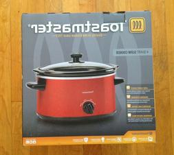 Toastmaster 4 Qt. Slow Cooker One Size Red