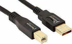 AmazonBasics USB 2.0 Cable - A-Male to B-Male - 16 Feet