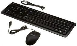 AmazonBasics USB Wired Computer Keyboard and Mouse Bundle Pa