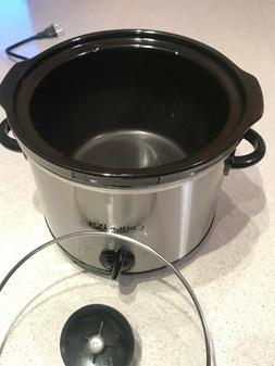 USED Crock-Pot SCR300SS 3-Quart Round Manual Slow Cooker, St