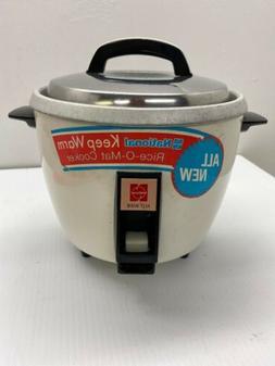 Vintage National Rice-O-Mat Cooker Mdl SR-10FGH Retro White