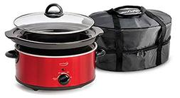 Betty Crocker WACBC1544CR Oval Slow Cooker with Travel Bag